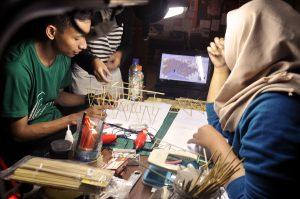 Diskusi pembuatan maket PAUD Tasikmalaya