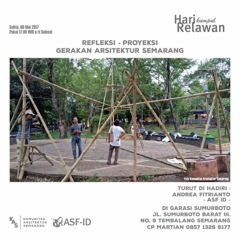 Hari Kumpul Relawa bersama Komunitas Arsitektur Semarang, 6 Mei 2017