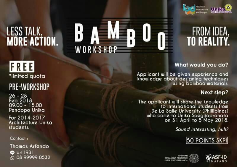 Bamboo Workshop 2018 at Unika